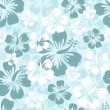 Hibiscus seamless background - Stockvectorbeeld