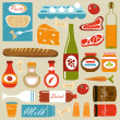 Food icons composition - Stock Vector