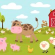 Cute little farm — Stock Vector