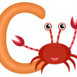C is for crab — Stock Vector