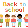 Back to school kids — Stock Vector #19425969