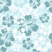 Hibiscus seamless background — Stock Vector