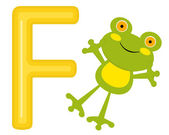 F is for frog — Stock Vector