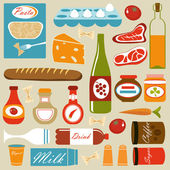 Food icons composition — Stock Vector