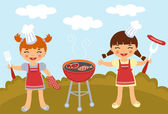 Barbecue party — Stock Vector