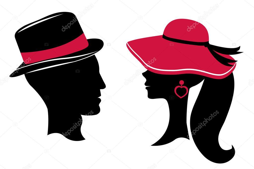 Silueta Hombre Y Mujer: Siluetas Cabeza De Hombre Y Mujer