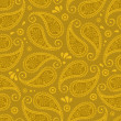 Oriental paisley seamless background — Stock Vector #19464837