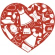 Royalty-Free Stock Imagen vectorial: Chick heart shopping