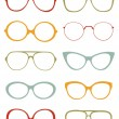 Eyeglasses collection — Stock Vector