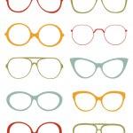 Eyeglasses collection — Stock Vector