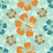 Hibiscus pattern — Vector de stock #21516117