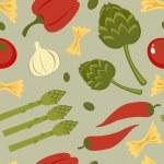 Italian food seamless background — Stock Vector