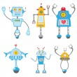 Cute robots set — Stock Vector #21516709