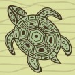 Decorative sea turtle - Stock Vector