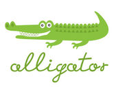 Cute alligator — Stock Vector