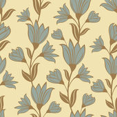 Retro style floral seamless pattern — Stock Vector