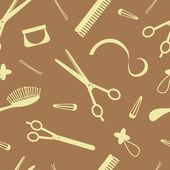Hairdressing pattern — Stock Vector