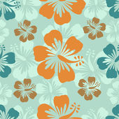 Hibiscus pattern — Vector de stock