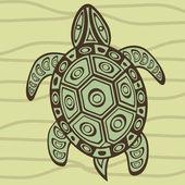 Decorative turtle — Stock Vector