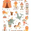 Circus in town — Stock Vector