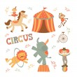 Circus set — Stock Vector #24983923