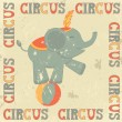 Royalty-Free Stock Vector Image: Retro circus poster with elephant