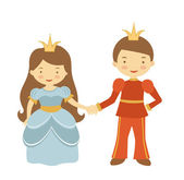 Prince and princess — Stock Vector