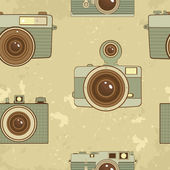 Old style cameras background — Stock Vector