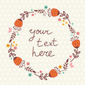 Floral frame with place for text — Stock vektor