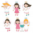 Cute little angels — Stock Vector