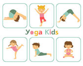 Yoga kids — Stock Vector