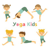 Yoga kids — Stock Vector