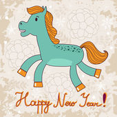 2014 year of the horse — Stock Vector