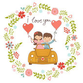 Happy couple — Stock Vector
