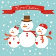 Frosty family — Stock Vector