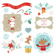 Christmas graphic elements — Vector de stock