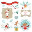 Christmas grafik öğeleri — Stok Vektör