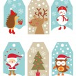 Christmas gift tags — Stock Vector #37595505