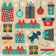 Retro Christmas background — Stock Vector