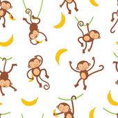 Modèle de singes mignons — Vecteur