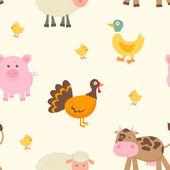 Farm animals pattern — Stock Vector