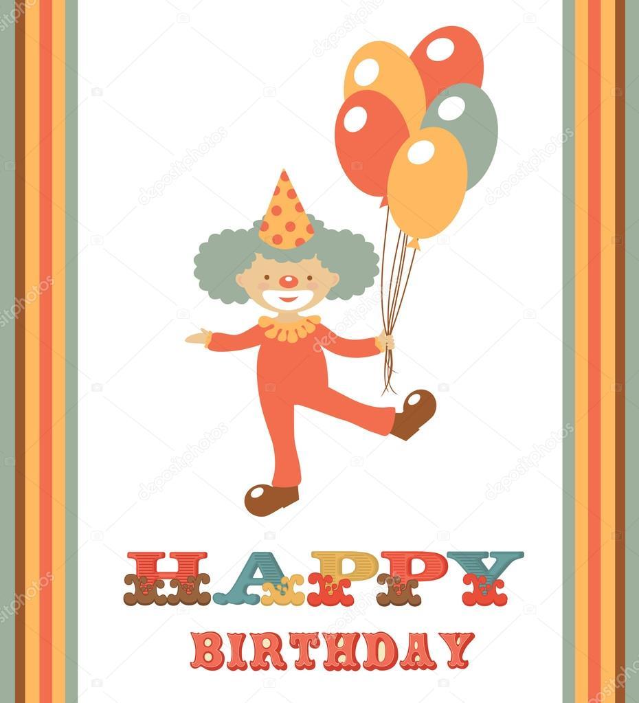 Открытка клоуну к дню рождения 145