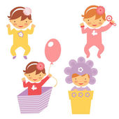 весна младенцев набор — Cтоковый вектор