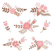 Floral decorative elements — Stock Vector