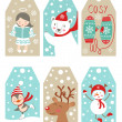 Christmas and new year gift tags — Stock Vector #37909563