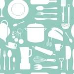Kitchen seamless pattern — Stock Vector #37913187