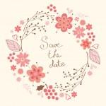 Elegant floral wreath — Stock Vector #37913315