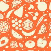 Fruit and vegetables seamless pattern — Stock Vector