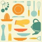 Retro kitchen collection — Stock Vector