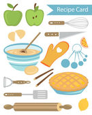 Recipe card — Stock Vector